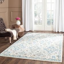 incredible 7 x 11 area rugs regarding safavieh evoke ivory light blue ft 9 rug evk224c 6