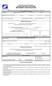 Allowance Maternityowance Form Leave Notice Letter Template Sample