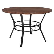 tremont 45 round dining table in coffee wood finish hs d03003tr f6