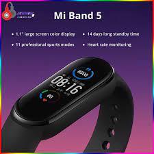 Vòng đeo tay thông minh Xiaomi Mi band 5 - Đồng hồ thông minh Xiaomi Miband  5 fitpro chính hãng 88,000đ