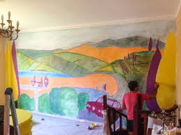 ... New Mural Fresco Painting ...
