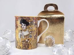 deluxe by mjs gustav klimt adele bloch bauer coffee cup in gift box