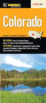 Colorado Mileage Chart Colorado State Fold Map