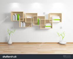 modern bookshelf with concept photo   fujizaki