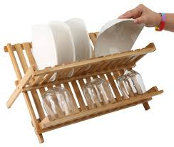 deals finders wooden collapsible dish drying rack just 9 99 after clipping the extra 50 off reg 22 43 as of 5 13 2018 1 21 pm edt