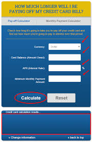 Bill Payment Calculator Pay Off Monthly Bill