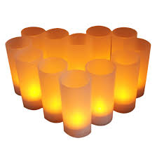 Us 21 52 22 Off 12pcs Led Tea Light Flameless Rechargeable Led Tea Light Flickering Amber Tealights Candles Us Plug Rechargeable Battery On