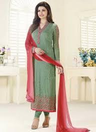 Bollywood Designer Suits Online Shopping Prachi Desai Sea Green Embroidery Thread Resham Work