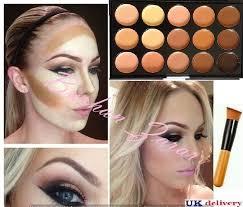 15 colors concealer kit palette with brush face makeup contour cream palette 2 ebay