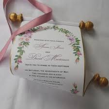 exelent wedding scroll invitations position design