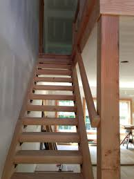 Choosing Heart Pine for Stair Treads : Basement Stair Design With Maple  Wood Treads And Handrail