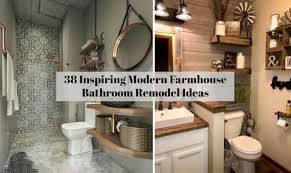 Modern farmhouse bathroom remodel ideas Bathroom Decor Otwexyz 38 Inspiring Modern Farmhouse Bathroom Remodel Ideas Otwexyz