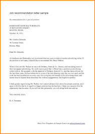 11 Employment Recommendation Letter Example Intern Resume