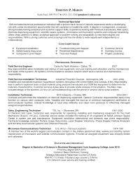 service technician resume field service technician resume field service technician  resume of for field service technician