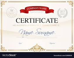 Certificate Of Completeion Certificate Of Completion Template