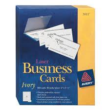 Avery Perforated Business Cards Ivory 250 Pack