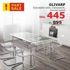 ikea glivarp extendable table glass dining chrome tempered inexpensive patio furniture metal sets antique mahogany white