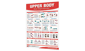 Body Fitness Chart Chart Bodyweight Exercises Upper Body