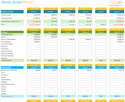 Online Free Budget Planner Spreadsheet Weekly Budget Template Planner And Calculator Example Of