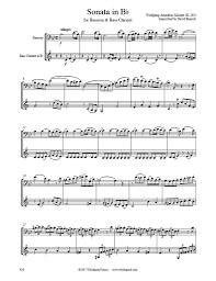 bassoon sheet music mozart sonata k 292 bass clarinet bassoon duet whichpond music