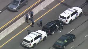 police use vehicles to stop suv after driver has medical episode on gsp in new jersey