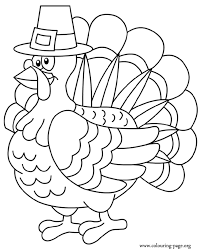 Small Picture Thanksgiving A Thanksgiving turkey coloring page
