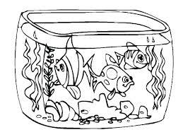 Coloring Pages Of Children Aquarium Coloring Pages Empty Fish Tank