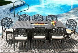 8 person patio table beautiful 9 outdoor patio dining set for 8 person with rectangle atlas
