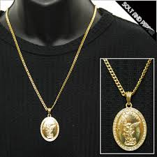 no brand saint michael necklace gold brand michael mont saint michel gold chain necklace diamond cut gold men men las las akusesarii hiphop hip hop