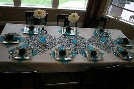 Turquoise And White Wedding Decorations Similiar Turquoise Black And White Elegant Table Decorations Keywords