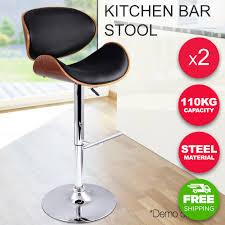 wooden breakfast bar stools. 2x Wooden Kitchen Bar Cafe Stool Padded Gas Lift Seat Swivel High Chair Black-buy Breakfast Stools R