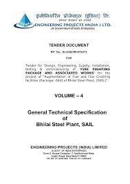 Ucs Spirit Pole Flex Chart General Technical Specification Of Bhilai Steel Plant Sail