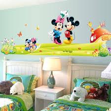 chaude mickey mouse minnie vinyle mur sticker stickers enfants