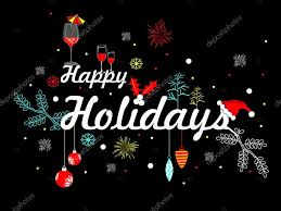 happy holidays images. Wonderful Happy Decorated Happy Holidays Text With Black Background U2014 Stock Vector For Happy Holidays Images