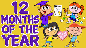 12 month months of the year song 12 months of the year kids songs by the
