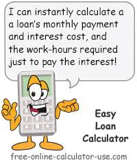 Free Loan Payment Calculator Easy Loan Calculator For Calculating Monthly Payment And Interest