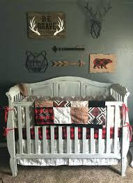 baby nursery outdoor themed baby nursery bedding woodland boy crib gray buck deer skin white