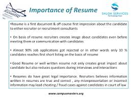 Resume Writing Tips Best Picture Importance Of A Resume Importance