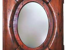mirror with old wood frame png