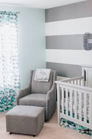 Adoravle Sample Modern Baby Boy Nursery Modern Designing Room Stripes  Wallpaper Grey White Chair Bedding Set