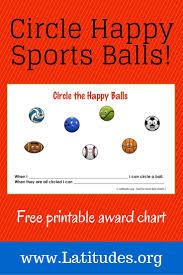 Free Behavior Chart Circle The Happy Ball Behavior