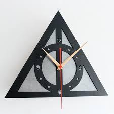 outstanding cool wall clock weird clocks black triangle clock og clock unique clock
