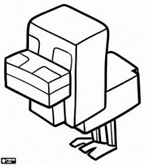 Small Picture Minecraft coloring page with a picture of an ocelot to color