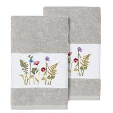Light Gray Hand Towels Field Of Florals Light Gray Hand Towel Set Pier 1