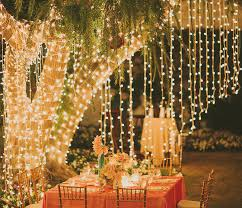 backyard fairy string led light decor inspiration for new year party party decor ideas outdoor
