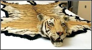 faux animal skin rugs with head fake rug fur long hair hide ha zebra real polar