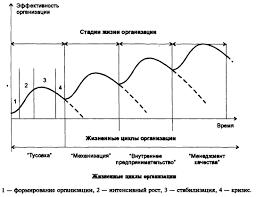 Жизненный цикл организации Реферат страница  В идеологии жизненного цикла организации определено что каждая имеет определенную стадию развития на своем жизненном пути и исходя из стадии строится
