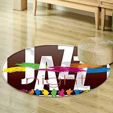 Colorful Living Room Simple Amazon Round Rugs For Bedroom Jazz Music Decor Colorful All
