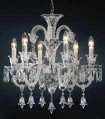 crystal chandelier bohemian cut crystal chandelier with cut crystal ts and bells