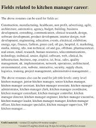 top  kitchen manager resume samples       fields related to kitchen manager
